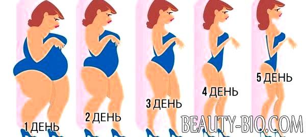Диета за 5 дней 5 кг